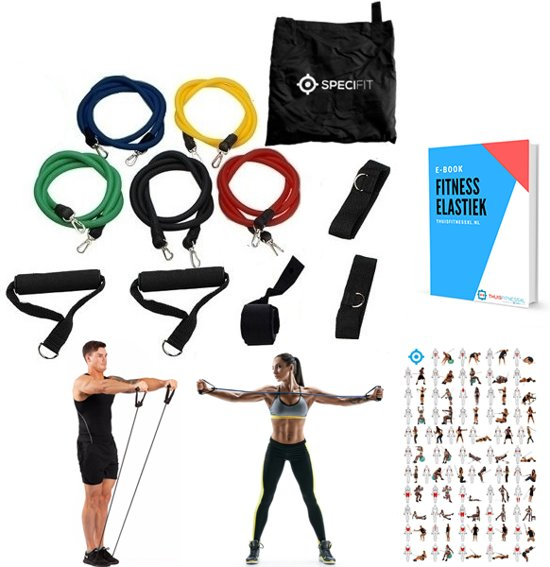 bol com fitness elastiek set compleetfitness elastiek set compleet