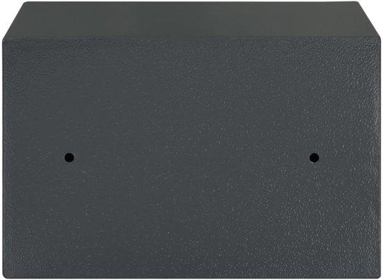 vidaXL Kluis mechanisch 31x20x20 cm staal donkergrijs