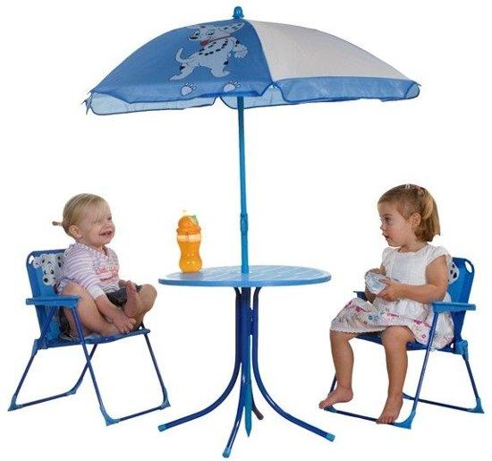 Hoge Stoel Voor Kind.Patio Set Voor Kinderen Blauw