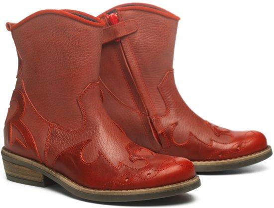 | Mim Pi Meisjes Leren boots Rood Maat 25