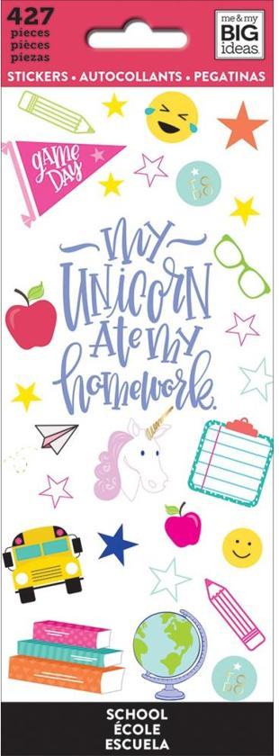 My and My Big Idea's - Happy Planner Stickers - School