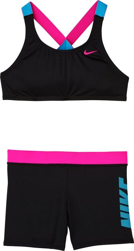 09a7e37a708 Nike Swim Crossback Sport Bikini Set Meisjes Bikini - Black - Maat L