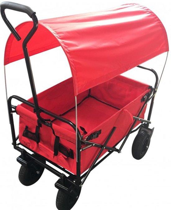 Bolderkar bolderwagen opvouwbaar rood met luxe for Luxe eetkamerstoel met wielen