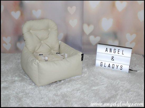 Autostoel voor honden Cosy Car Deluxe Angel & Gladys crème 55x45x25/50cm