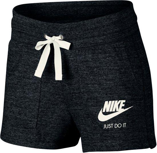 Nike Nsw Gym Vntg Short Korte broek Dames - Black/(Sail) - Maat S