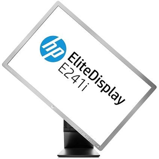 HP EliteDisplay E241i 24'' LED Zilver computer monitor