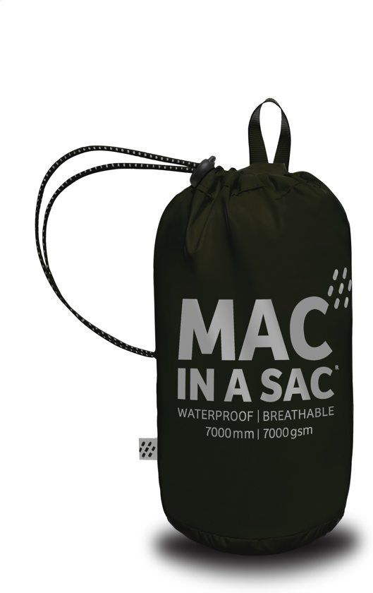 Mac in a Sac  - Regenjas - Volwassenen - Maat L - Black