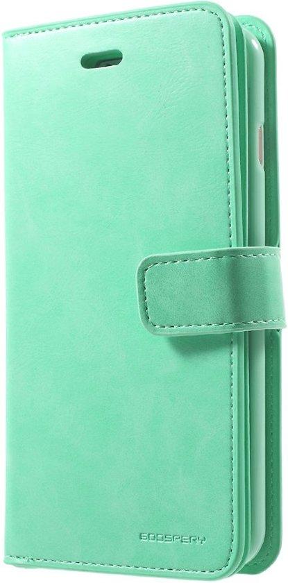 Mercury Goospery - iPhone 7 Plus Hoesje - Leather Case  Diary Groen in Lankhorst