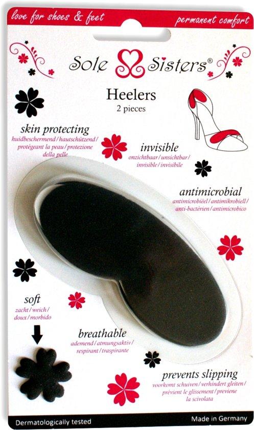 Heelers van Sole Sisters - Beschermende kussentjes voor je hiel - zwart