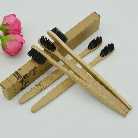 Voordeelverpakking van 8 stuks - Bamboe Tandenborstel | Zacht/medium voor gevoelige tandvlees|Biologisch afbreekbaar| 100% organic |