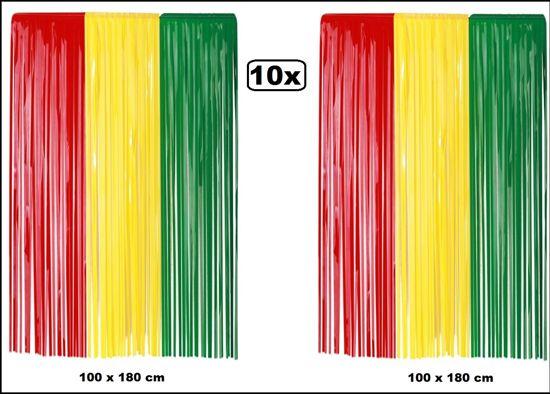 10x Mooie Gordijnen : Bol pvc deur gordijn rood geel groen brandveilig