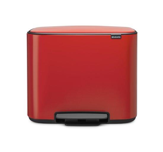 Brabantia Bo Prullenbak - 3 x 11 l - Passion Red