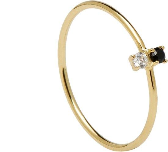 P D Paola 925 Sterling Zilveren Goudkleurige CityPlay Ring  - goud