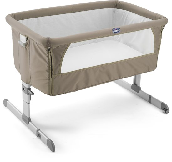 Babybed Aan Bed.Chicco Next2me Wiegje Beige