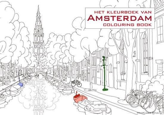 Kleurplaten Voor Volwassenen Amsterdam.Bol Com Kleurboek Van Amsterdam Colouring Book Liset T Hart