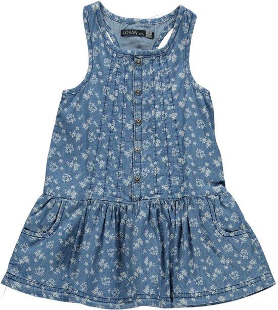 Blauw en witte jurk