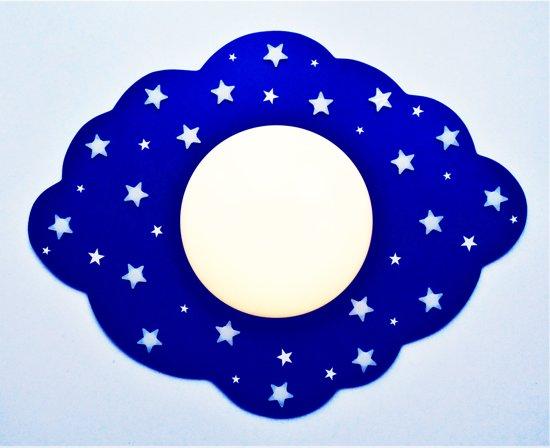 Plafonniere Blue : Bol funnylight kinderlamp led wolk donkerblauw plafonniere