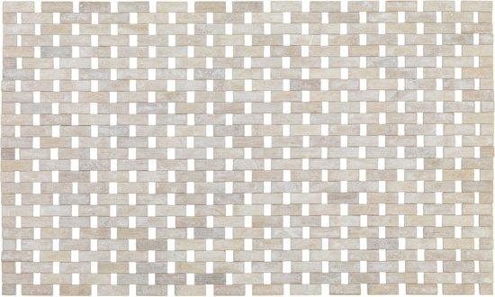 bol.com | Bamboe Badmat / Houten douche mat white wash met anti slip