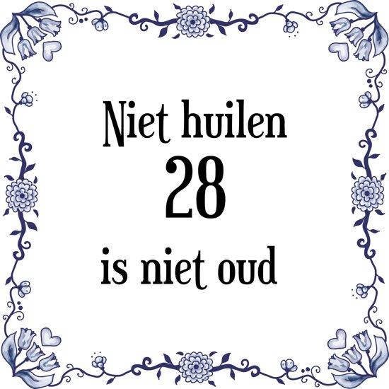 28 jaar verjaardag bol.| Verjaardag Tegeltje met Spreuk (28 jaar: Niet huilen 28  28 jaar verjaardag