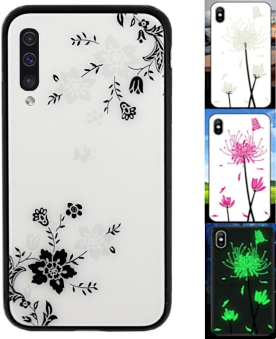 BackCover Magic Glass voor Samsung A70 Bloem1