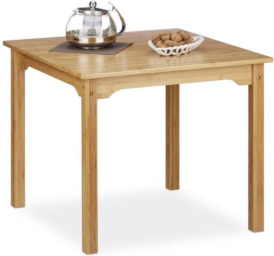 Tafel Hoogte 60 Cm.Bol Com Relaxdays Bijzettafel Bamboe Salontafel Kindertafel