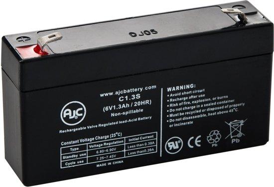 AJC® battery compatibel met Union PW-06012 6V 1.3Ah Lood zuur accu