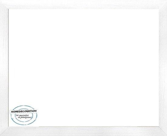 Homedecoration Misano – Fotolijst – Fotomaat – 73 x 99 cm  – Wit houtnerf