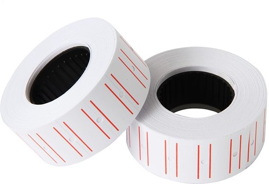Levay ® prijsrol stickers prijsrollen - 23x15cm