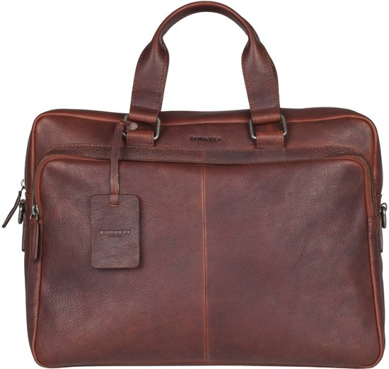 BURKELY Antique Avery Laptoptas 15,6 inch - Bruin
