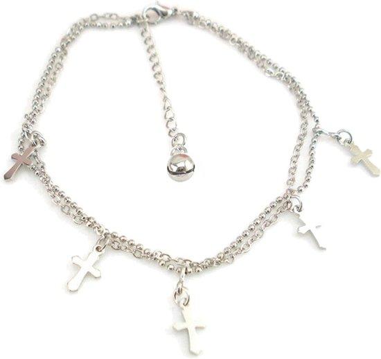 Fako Bijoux® - Enkelbandje - Kruisjes