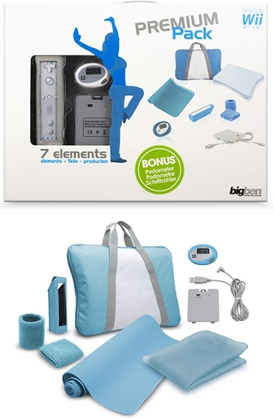 Bigben Sportaccessoirepakket Blauw Wii kopen