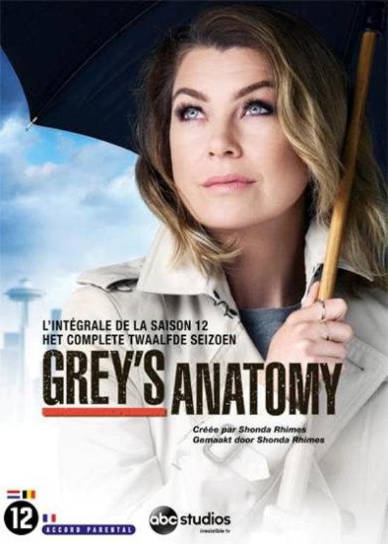 DVD cover van Greys Anatomy - Seizoen 12