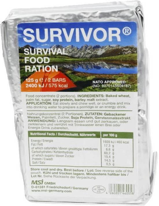MSI - Survivor Food - Noodrantsoen - 575 Calorieën snack