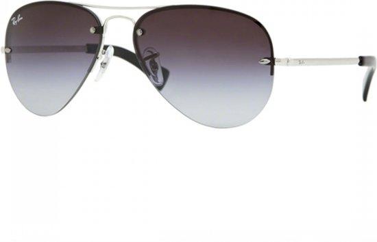 618abc9c20dae3 Ray-Ban RB3449 003 8G - Aviator - zonnebril - Zilver   Grijs Gradiënt