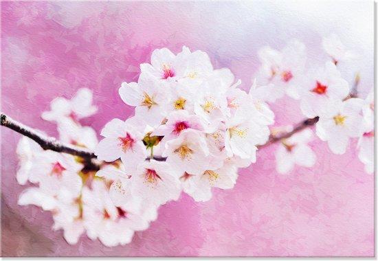 Outdoor Canvas Schilderij - Bloemen - Japanse Kersen Bloesem