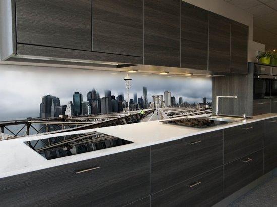 Behang Voor Keuken : Bol keuken spatwand behang brooklyn bridge nyc cm