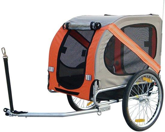 Duvo+ Fietskar - 80cm x 56cm x 60cm - Grijs/Oranje