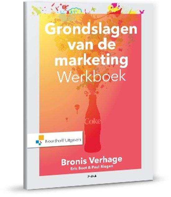 Boek cover Grondslagen van de marketing werkboek van Bronis Verhage (Paperback)