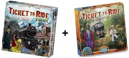Ticket to Ride Europe + uitbreiding Ticket to Ride Afrika - Bordspel - Combi Deal