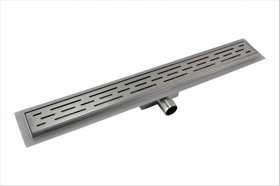 CityLine TopDesign RVS zijuitloop douchegoot 70 cm flens - Standaard rooster