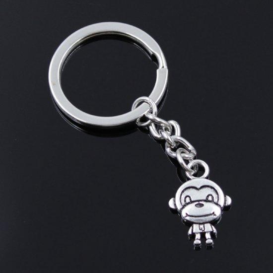 Klein schattig aapje sleutelhanger ca 2 cm bij 2 cm - NBH®