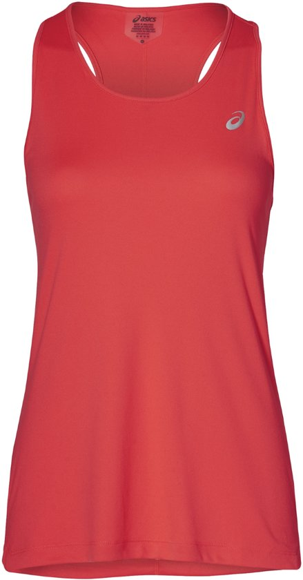 Asics Silver Tank Sporttop Dames - Flash Coral - Maat S