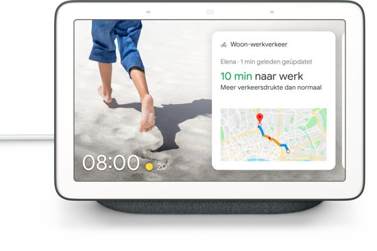 Google Nest Hub - Smart Speaker met scherm / Nederlandstalig - Antraciet