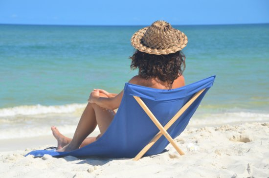 Pro Beach Strandstoel.Strandstoel Opvouwbaar Canvas Grenen Beach Chair Beach Lounger Blauw