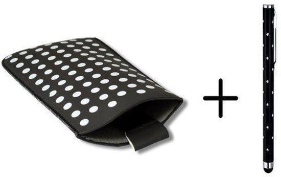 Polka Dot Hoesje voor Lg F70 met gratis Polka Dot Stylus, Zwart, merk i12Cover
