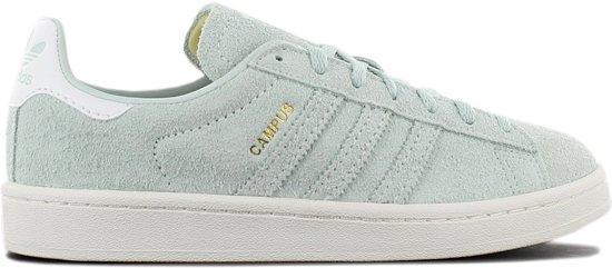 adidas Originals Campus Leather W B37937 Dames Sneakers Sportschoenen  Schoenen Groen - Maat EU 39 1/3 UK 6