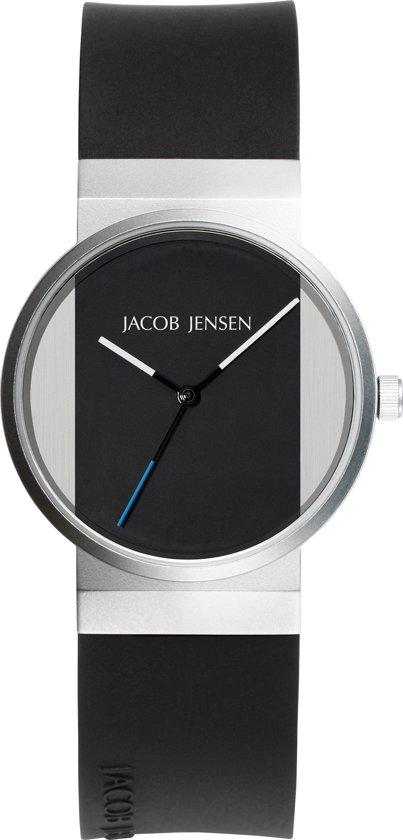 Jacob Jensen 722 horloge dames - zwart - edelstaal
