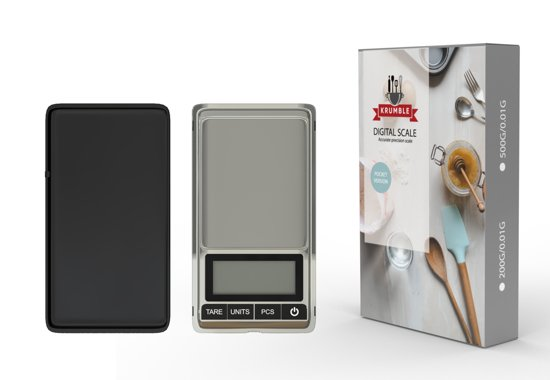 Digitale weegschaal 0.01 x 500 gram | Kleine keukenweegschaal | Precisie weegschaal | Grammen weegschaal | Mini weegschaal | Micro weegschaal