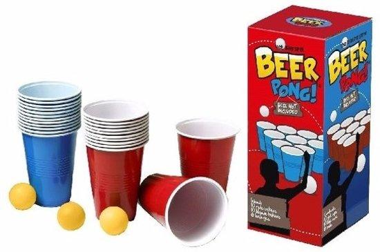 Afbeelding van het spel Beer Pong set met red en blue cups