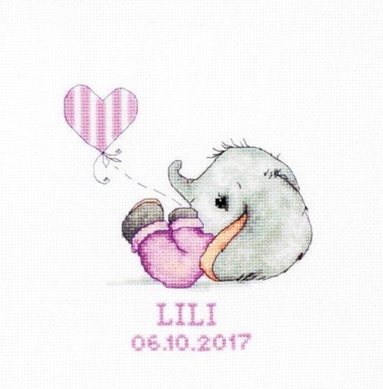 Luca S geboortetegel Baby Girl ls-b1133 14 x 15,5 cm